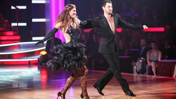 "<div class=""meta ""><span class=""caption-text "">U.S. soccer star Hope Solo and her partner Maksim Chmerkovskiy received 24 out of 30  from the judges for their Cha Cha Cha on the October 3 episode of 'Dancing With The  Stars.' (ABC Photo)</span></div>"