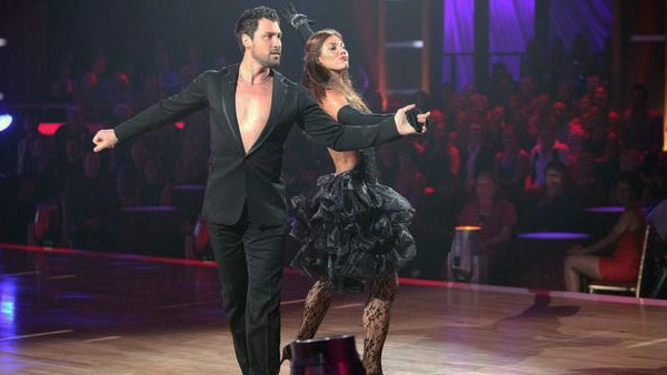 "<div class=""meta image-caption""><div class=""origin-logo origin-image ""><span></span></div><span class=""caption-text"">U.S. soccer star Hope Solo and her partner Maksim Chmerkovskiy received 24 out of 30  from the judges for their Cha Cha Cha on the October 3 episode of 'Dancing With The  Stars.' (ABC Photo)</span></div>"