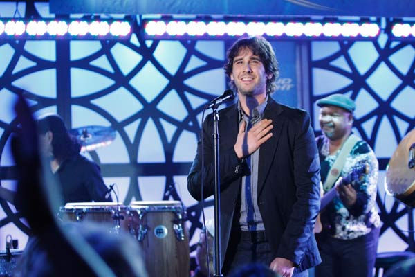 Josh Groban appears on Jimmy Kimmel Live on January 3, 2011.