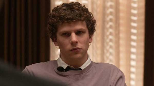 Jesse Eisenberg in a still from 'The Social...