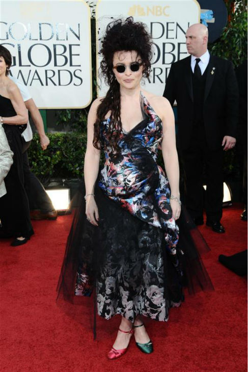 Helena Bonham Carter appears at the 2011 Golden Globe Awards in Beverly Hills, California on Jan. 16, 2011. <span class=meta>(Kyle Rover &#47; Startraksphoto.com)</span>