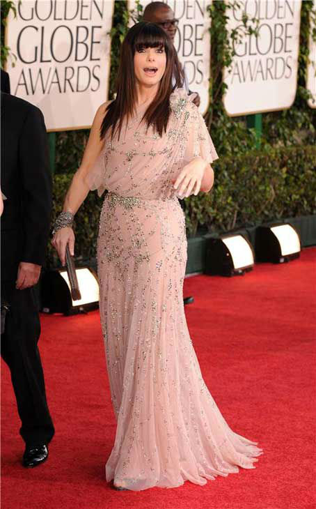 Sandra Bullock appears at the 68th annual Golden Globe Awards in Los Angeles, California on Jan. 16, 2011.