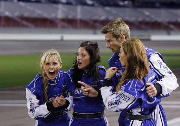 Brad feels the need for some speed and takes eight lucky ladies out for a true NASCAR experience at the Las Vegas Motor Speedway - the same racetrack where Dale Earnhardt, Jr. and Jeff Gordon will be racing five weeks from now. Brad hopes to ignite some romance on the track, but when he&#39;s reminded that Emily has a tragic link to the racing world, the romance is sidetracked. Brad puts everything on hold to comfort Emily, but at the after-party emotions are at an all-time high, as some very jealous women seethe with resentment over his partiality to one woman. Will Brad risk the ire of the other ladies and give the rose to Emily, or will he choose to wave the checkered flag for another bachelorette? The next episode of &#39;The Bachelor&#39; airs Monday, January 31. <span class=meta>(ABC Photo&#47; Isaac Brekken)</span>