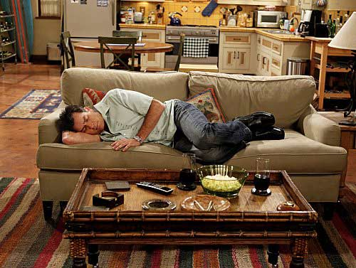 Charlie Sheen in a still from the CBS comedy, 'Two and a Half Men.'