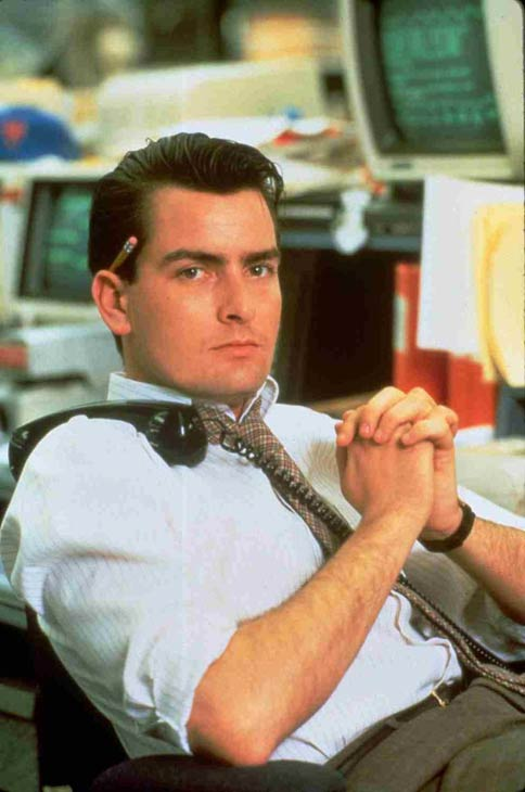 Charlie Sheen in a still from his 1987 film, 'Wall Street.'