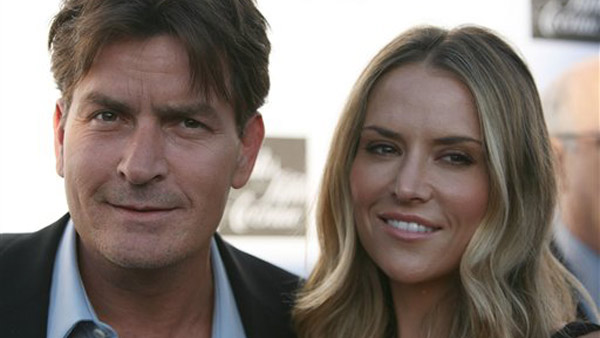 Actor Charlie Sheen and Brooke Mueller arrive at...