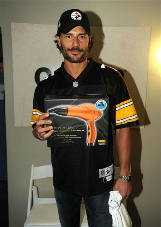 The &#39;Hairdryer-Swag-Is-Cool&#39; stare: Joe Manganiello appears at the GMC Tailgate event at the Belmont hotel in Dallas, Texas on Feb. 5, 2011. <span class=meta>(Seth Browarnik &#47; Startraksphoto.com)</span>