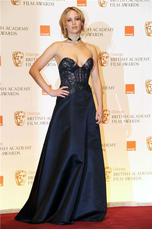 Jennifer Lawrence appears at the British Academy Film Awards on Feb. 13, 2011. <span class=meta>(Richard Young&#47;startraksphoto.com)</span>