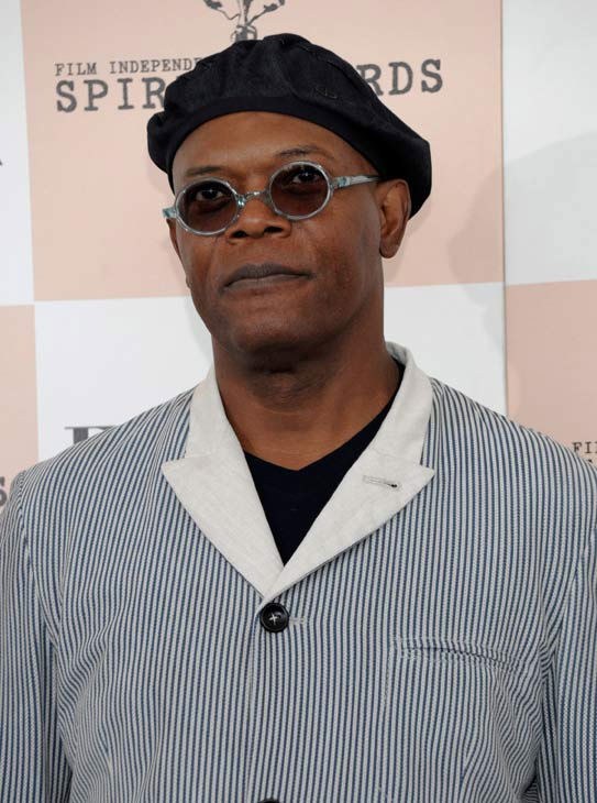 Samuel L. Jackson arrives at the Independent...