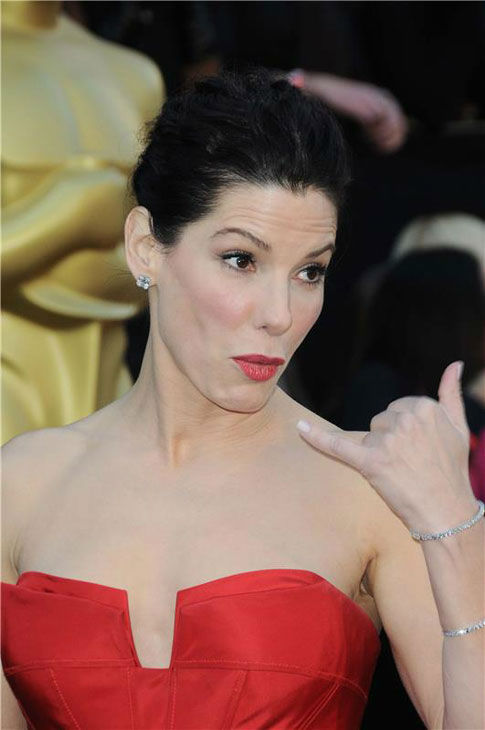 Sandra Bullock appears at the 83rd annual Academy Awards in Los Angeles, California on Feb. 27, 2011.