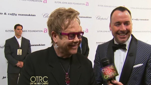 OTRC talks with Elton John at his Academy Awards...