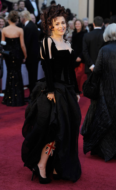 Actress Helena Bonham Carter arrives before the 83rd Academy Awards on Sunday, Feb. 27, 2011, in the Hollywood section of Los Angeles.