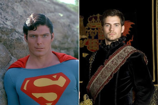 Left: Christopher Reeve in the 1978 film...
