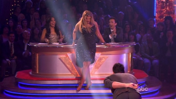 Kirstie Alley and her partner Maksim Chmerkovskiy dancing the cha cha on the season premiere of &#39;Dancing With The Stars.&#39; <span class=meta>(ABC)</span>
