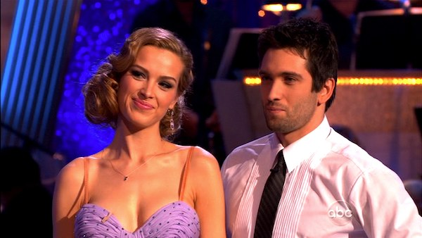 Petra Nemcova and her partner Dmitry Chaplin received 18 out of 30 from the judges for their foxtrot on the season premiere of &#39;Dancing With The Stars.&#39; <span class=meta>(ABC)</span>