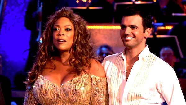 "<div class=""meta image-caption""><div class=""origin-logo origin-image ""><span></span></div><span class=""caption-text"">Wendy Williams and her partner Tony Dovolani  received 14 out of 30 from the judges for their cha cha on the season premiere of 'Dancing With The Stars.' (ABC)</span></div>"