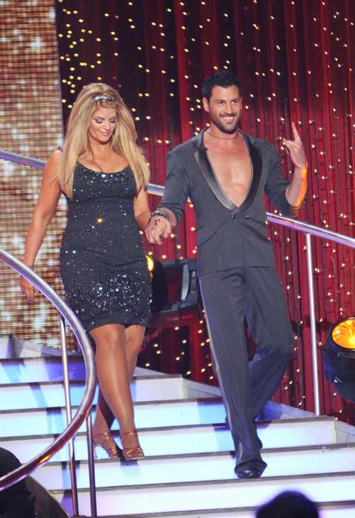 Kirstie Alley and her partner Maksim Chmerkovskiy received 23 out of 30 from