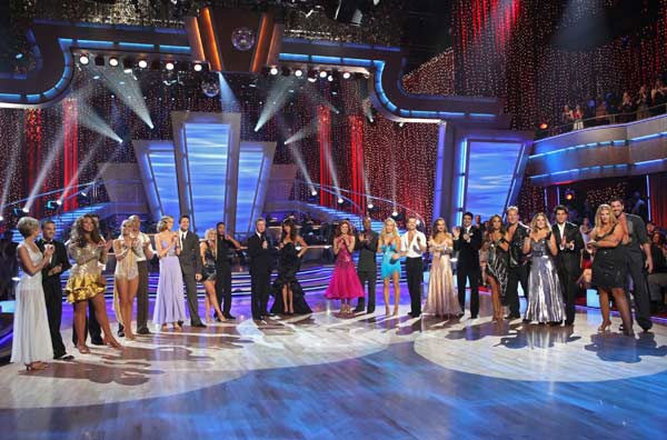 The star-studded cast of celebrities are set to compete each week on the dance floor. Performing either the Foxtrot or the Cha Cha Cha, all 11 couples danced for the first time on live national television in the two-hour season premiere of &#39;Dancing with the Stars.&#39;  &#40;Pictured: Chelsea Kane, Mark Ballas, Wendy Williams, Tony Dovolani, Kym Johnson, Hines Ward, Petra Nemcova, Dmitry Chaplin, Chelsie Hightower, Romeo, Tom Bergeron, Brooke Burke, Anna Trebunskaya, Sugar Ray Leonard, Kendra Wilkinson, Louis Van Amstel, Karina Smirnoff, Ralph Macchio, Cheryl Burke, Chris Jericho, Lacey Schwimmer, &#39;Psycho&#39; Mike Catherwood, Kirstie Alley and Maksim Chmerkovskiy&#41; <span class=meta>(ABC Photo&#47; Adam Larkey)</span>