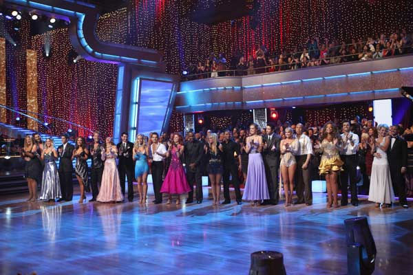 "<div class=""meta ""><span class=""caption-text "">The star-studded cast of celebrities are set to compete each week on the dance floor. Performing either the Foxtrot or the Cha Cha Cha, all 11 couples danced for the first time on live national television in the two-hour season premiere of 'Dancing with the Stars.'  (Pictured: Chelsea Kane, Mark Ballas, Wendy Williams, Tony Dovolani, Kym Johnson, Hines Ward, Petra Nemcova, Dmitry Chaplin, Chelsie Hightower, Romeo, Tom Bergeron, Brooke Burke, Anna Trebunskaya, Sugar Ray Leonard, Kendra Wilkinson, Louis Van Amstel, Karina Smirnoff, Ralph Macchio, Cheryl Burke, Chris Jericho, Lacey Schwimmer, 'Psycho' Mike Catherwood, Kirstie Alley and Maksim Chmerkovskiy) (ABC Photo/ Adam Larkey)</span></div>"