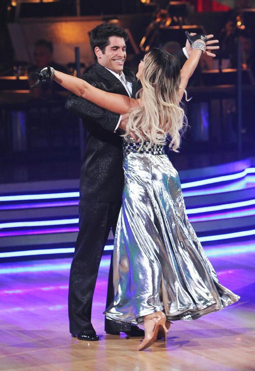 Mike Catherwood and his partner Lacey Schwimmer received 13 out of 30 from the judges for their Cha cha on the season premiere of 'Dancing With The Stars.'