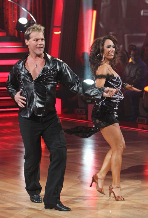 Chris Jericho and his partner Cheryl Burke...