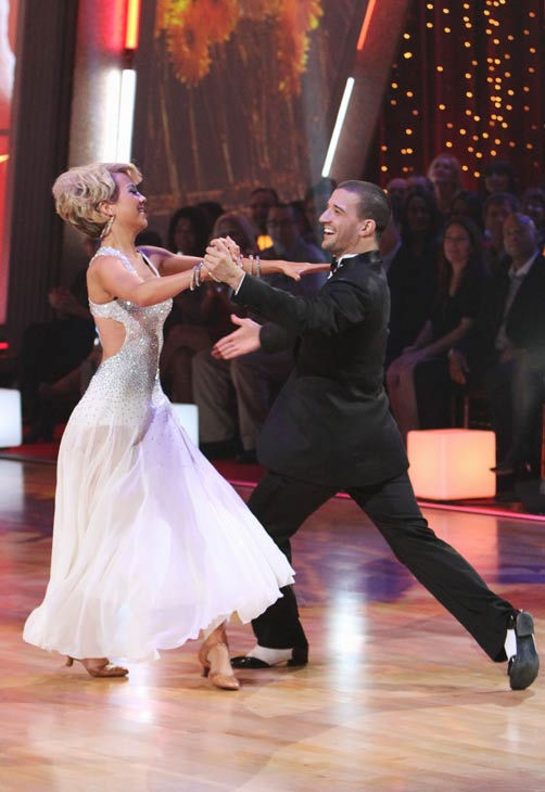 "<div class=""meta ""><span class=""caption-text "">Chelsea Kane and her partner Mark Ballas received 21 out of 30 from the judges for their Foxtrot on the season premiere of 'Dancing With The Stars.' (ABC Photo/ Adam Larkey)</span></div>"