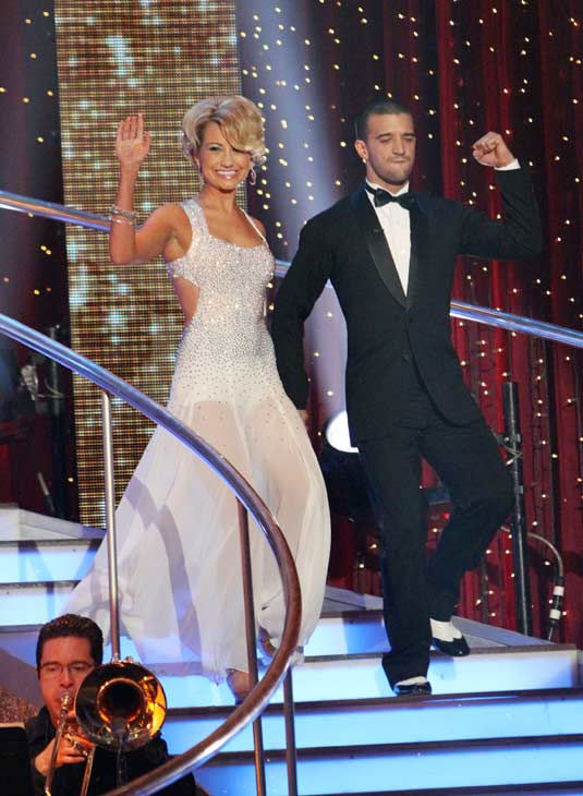 Chelsea Kane and her partner Mark Ballas received 21 out of 30 from the judges for their Foxtrot on
