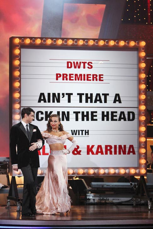 "<div class=""meta ""><span class=""caption-text "">Ralph Macchio and his partner Karina Smirnoff received 24 out of 20 from the judges for their Foxtrot on the season premiere of 'Dancing With The Stars.' (ABC Photo/ Adam Larkey)</span></div>"