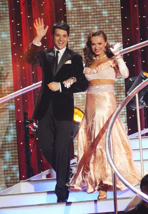 Ralph Macchio and his partner Karina Smirnoff received 24 out of 20 from the judges for their Foxtrot on the season premiere of 'Dancing With The S