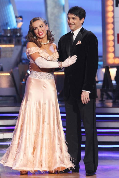 Ralph Macchio and his partner Karina Smirnoff received 24 out of 20 from the judges for their Foxtrot on the season premiere of &#39;Dancing With The Stars.&#39; <span class=meta>(ABC Photo&#47; Adam Larkey)</span>