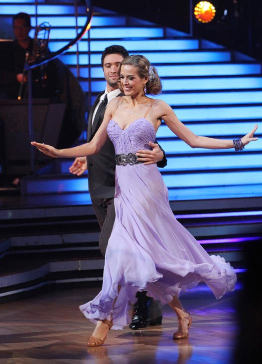 Petra Nemcova and her partner Dmitry Chaplin received 18 out of 30 from the judges for their Foxtrot on the season premiere of &#39;Dancing With The Stars.&#39; <span class=meta>(ABC Photo&#47; Adam Larkey)</span>