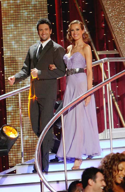 Petra Nemcova and her partner Dmitry Chaplin received 18 out of 30 from the judges for their Foxt