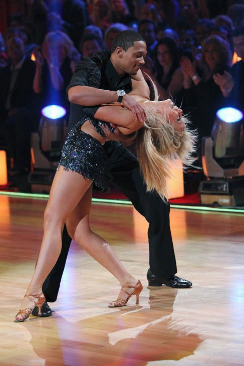 "<div class=""meta ""><span class=""caption-text "">Romeo and his partner Chelsie Hightower received 19 out of 30 from the judges for their Cha cha on the season premiere of 'Dancing With The Stars.' (ABC Photo/ Adam Larkey)</span></div>"