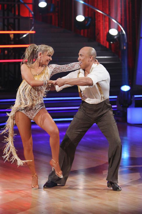 "<div class=""meta image-caption""><div class=""origin-logo origin-image ""><span></span></div><span class=""caption-text"">Hines Ward and his partner Kym Johnson received 21 out of 30 from the judges for their Cha cha on the season premiere of 'Dancing With The Stars.' (ABC Photo/ Adam Larkey)</span></div>"
