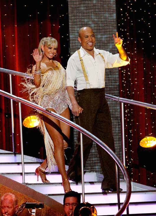 Hines Ward and his partner Kym Johnson received 21 out of 30 from the judges for their Cha cha on the season premiere of 'Dancing Wit