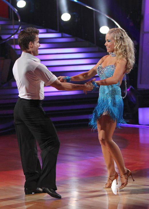 Kendra Wilkinson and her partner Louis van Amstel received 18 out of 30 from the j