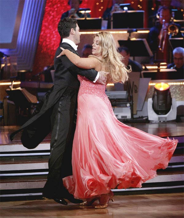 Kirstie Alley and her partner Maksim Chmerkovskiy recieved 20 out of 30 from the judges for their Quickstep on week 2 of 'Dancing With The Stars' on Monday, March 28, 2011. Combined with the f