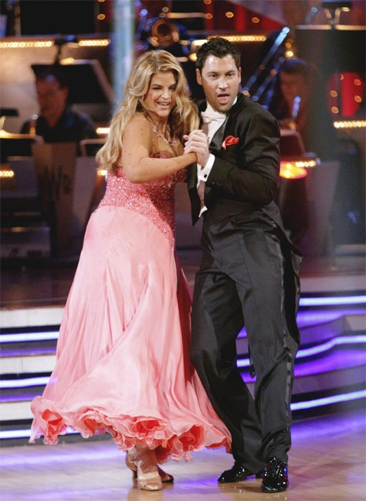 Kirstie Alley and her partner Maksim Chmerkovskiy recieved 20 out of 30 from the judges for their Quickstep on week 2 of 'Dancing With The Stars' on Monday, March 28, 2011. Combined with