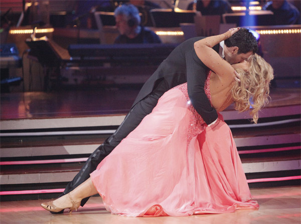 "<div class=""meta image-caption""><div class=""origin-logo origin-image ""><span></span></div><span class=""caption-text"">Kirstie Alley and her partner Maksim Chmerkovskiy recieved 20 out of 30 from the judges for their Quickstep on week 2 of 'Dancing With The Stars' on Monday, March 28, 2011. Combined with the first week scores of 23 out of 60, their total is 43 out of 60.  (ABC Photo/Adam Taylor)</span></div>"