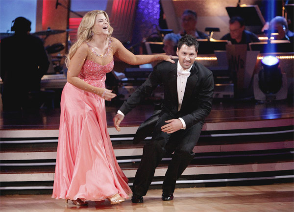 Kirstie Alley and her partner Maksim Chmerkovskiy recieved 20 out of 30 from the judges for their Quickstep on week 2 of &#39;Dancing With The Stars&#39; on Monday, March 28, 2011. Combined with the first week scores of 23 out of 60, their total is 43 out of 60.  <span class=meta>(ABC Photo&#47;Adam Taylor)</span>