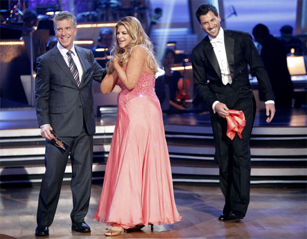 Kirstie Alley and her partner Maksim Chmerkovskiy recieved 20 out of 30 from the judges for their Quickstep on week 2 of 'Dancing With The Stars' on Monday, March 28, 2011. Combined with the firs