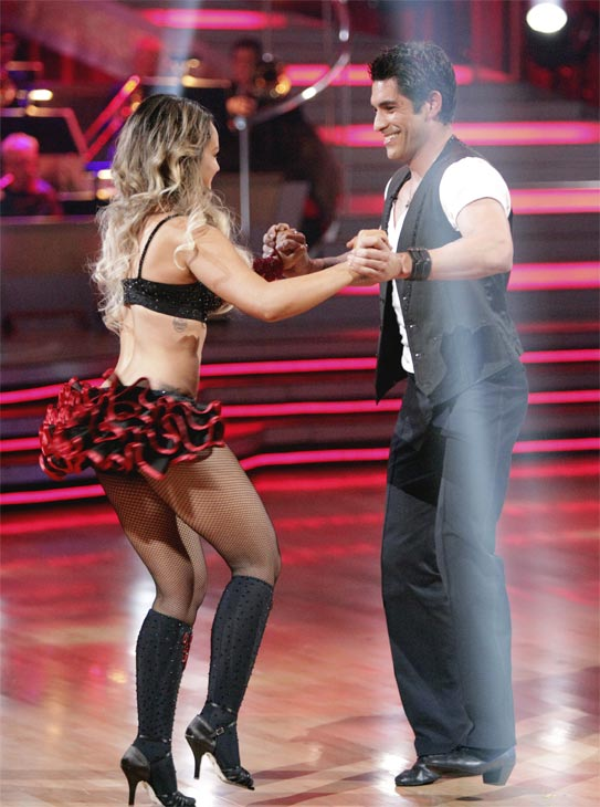 'Psycho' Mike Catherwood and Lacey Schwimmer received 17 out of 30 from the judges for their Jive on week 2 of 'Dancing With The Stars' on Monday, March 28, 2011. Combined with the first week scores of 13 out o