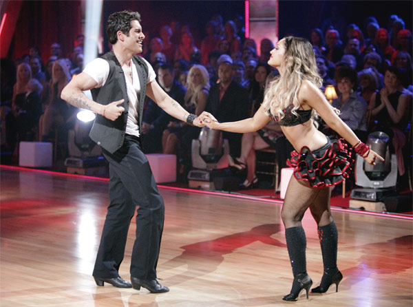 &#39;Psycho&#39; Mike Catherwood and Lacey Schwimmer received 17 out of 30 from the judges for their Jive on week 2 of &#39;Dancing With The Stars&#39; on Monday, March 28, 2011. Combined with the first week scores of 13 out of 30, their total is 30 out of 60. <span class=meta>(ABC Photo&#47;Adam Taylor)</span>