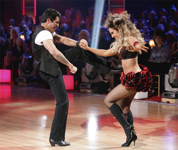 'Psycho' Mike Catherwood and Lacey Schwimmer received 17 out of 30 from the judges for their Jive on week 2 of 'Dancing With The Stars' on Monday, March 28, 2011. Combined with the first week scores of 13 out of 30, their total is 30 out of 60.