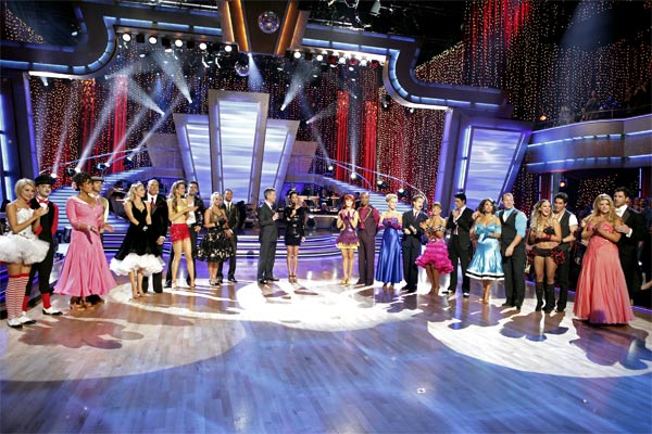 "<div class=""meta ""><span class=""caption-text "">All 11 couples appear on week 2 of 'Dancing With The Stars' on Monday, March 28, 2011: Chelsea Kane, Mark Ballas, Wendy Williams, Tony Dovolani, Kym Johnson, Hines Ward, Petra Nemcova, Dmitry Chaplin, Chelsie Hightower, Romeo, Tom Bergeron, Brooke Burke, Anna Trebunskaya, Sugar Ray Leonard, Kendra Wilkinson, Louis van Amstel, Karina Smirnoff, Ralph Macchio, Cheryl Burke, Chris Jericho, Lacey Schwimmer, 'Psycho' Mike Catherwood, Kirstie Alley, and Maksim Chmerkovskiy. (ABC Photo/Adam Taylor)</span></div>"
