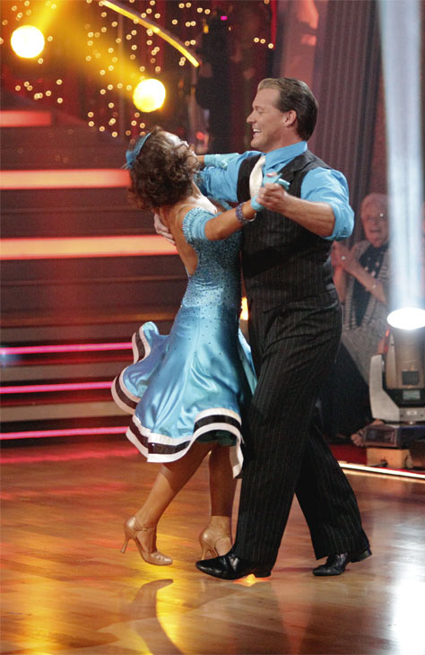 "<div class=""meta ""><span class=""caption-text "">Chris Jericho and his partner Cheryl Burke received 23 out of 30 from the judges for their Quickstep on week 2 of 'Dancing With The Stars' on Monday, March 28, 2011. Combined with the first week scores of 19 out of 30 their total is 42 out of 60. (ABC Photo/Adam Taylor)</span></div>"