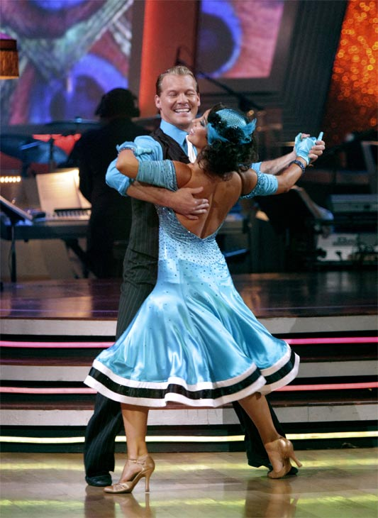 Chris Jericho and his partner Cheryl Burke received 23 out of 30 from the judges for their Quickstep on week 2 of 'Dancing With The Stars' on Monday, March 28, 2011. Combined with the first week scores of 19 out of 30 their total is 42 o