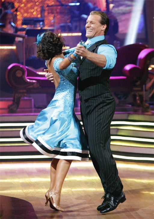 Chris Jericho and his partner Cheryl Burke received 23 out of 30 from the judges for their Quickstep on week 2 of 'Dancing With The Stars' on Monday, March 28, 2011. Combined with the first week score