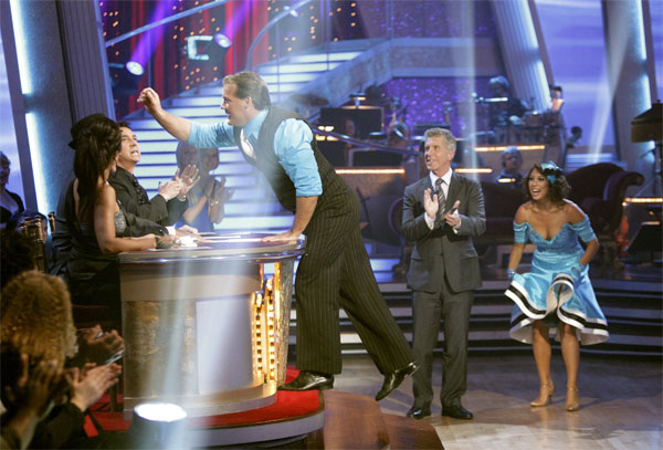 Chris Jericho and his partner Cheryl Burke received 23 out of 30 from the judges for their Quickstep on week 2 of 'Dancing With The Stars' on Monday, March 28, 2011. Combined