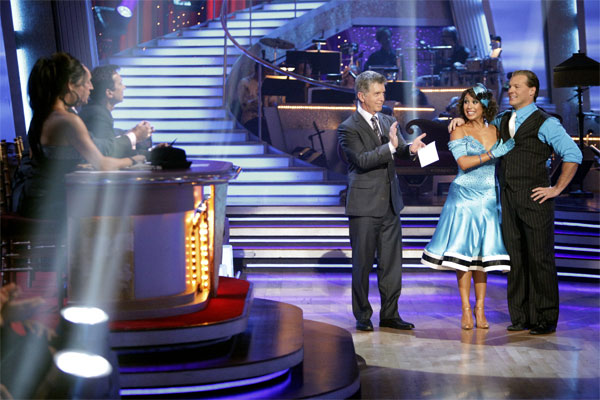 Chris Jericho and his partner Cheryl Burke received 23 out of 30 from the judges for their Quickstep on week 2 of &#39;Dancing With The Stars&#39; on Monday, March 28, 2011. Combined with the first week scores of 19 out of 30 their total is 42 out of 60. <span class=meta>(ABC Photo&#47;Adam Taylor)</span>
